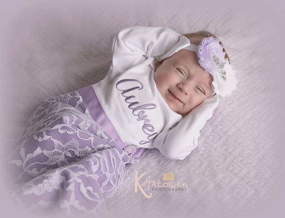 1b4259795bf7 Personalized Newborn Baby Girl Gown