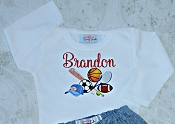 Sports Baby Boy Personalized Bodysuit