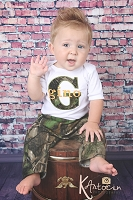 Baby Boy Clothes / Hunters Camo with Orange