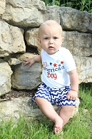 4th of July Boy Outfit All American Boy