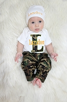 Personalized Baby Boy Camo  Pants Outfit