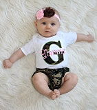 Camo Personalized Baby Girl Clothes / Camo and Pink