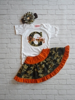 Personalized Baby Girl  Camo Outfit