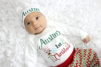 First Christmas Personalized Boy Outfit