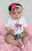 Personalized Baby Girl Damask Outfit