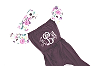 Baby Girl Monogrammed Floral Romper Bubble Romper