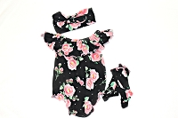 Baby Girl  Floral Romper Bubble Romper