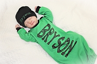 Newborn Personalized Infant Boy Gown