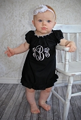 Monogrammed Little Black Dress