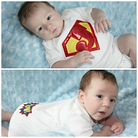 Superhero Baby Boy Clothes Monogram Superhero Bodysuit