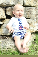 4th of July Boy Outfit USA Tie