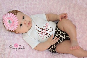 Personalized Baby Girl Giraffe Outfit