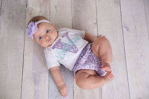 Personalized Baby Girl Diaper Cover Outift Teal & Lavender