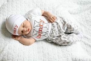 86e28f4e3 Newborn Baby Boy take home outfit Chevron Outfit