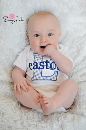 Personalized Baby Boy Clothes Take Home Outfit Monogram Boy Bodysuit (COPY)