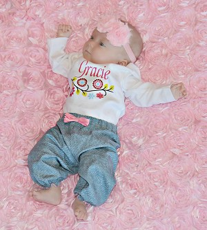 Personalized Girl Floral Outfit
