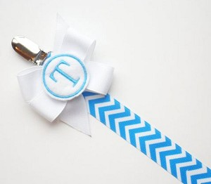 Pacifier Clip Chevron Monogram Pacifier Clip Personalized Baby Pacifier Holder