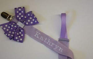 Monogram Pacifier Clip Baby Girl Personalized Pacifier Clip You Pick The Colors