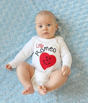 Valentine's Day Baby Boy Clothes Tie Bodysuit