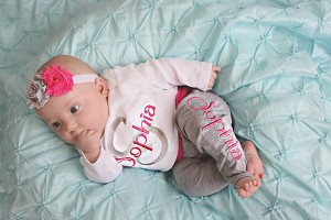 Personalized Baby Girl Leggings Outfit